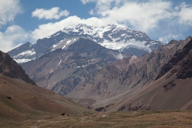 close-up of Aconcagua